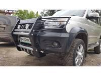 Кенгурин на УАЗ Патриот Самурай с защитой фар и двигателя