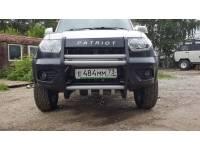 Кенгурин на УАЗ Патриот Приоритет с защитой двигателя