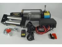 Лебедка электрическая 12V Electric Winch 8500lbs Съемный блок управления, стальной трос.