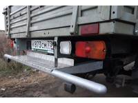 Задняя защита-ограничитель на УАЗ Профи одинарная с алюм. площадкой