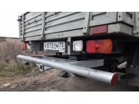 Задняя защита-ограничитель УАЗ Профи с квадратом под фаркоп 50х50