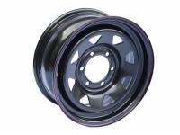 Диск колёсный стальной R16 Off Road Wheels 6x139.7 размер 7х16 вылет ET +30, центральное отверстие D 110 цвет: черный